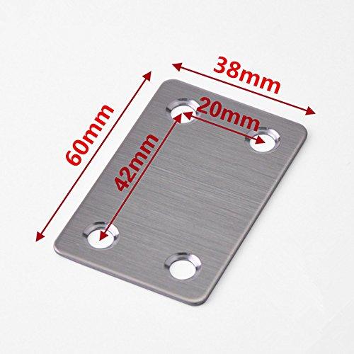 Wapour 8�pi�ces 60�mm x 38�mm Rejoignant plaque support plat pour v�tements plaques AVEC 32�pi�ces Vis