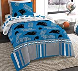 The Northwest Company NFL Carolina Panthers Twin Bed in a Bag Complete Bedding Set #873411211