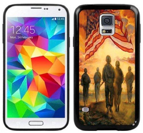 American Flag Army Handmade Samsung Galaxy S5 Black Case