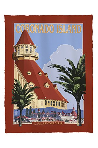 Lantern Press Coronado Island, California - Hotel Del Coronado 31805 (60x80 Poly Fleece Thick Plush Blanket)