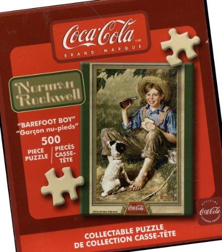 Coca-Cola Brand Collectible 500 Piece Puzzle - Barefoot Boy by Norman Rockwell (Coca Cola Puzzle 500 Piece)
