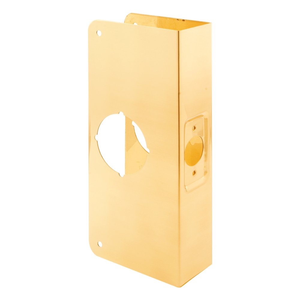 Defender Security U 9540 Door Reinforcer 1-3/8-Inch Thick by 2-3/8-Inch Backset 2-1/8-Inch Bore, Brass Recesssed
