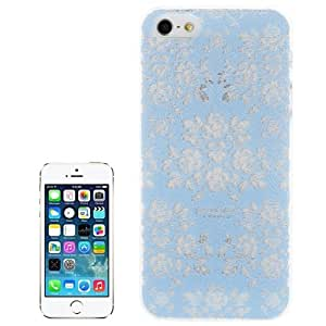 Paper cut Dermatoglyph-Flower Pattern Translucent Plastic Protective Cover Case Funda Para iPhone 5 & 5S