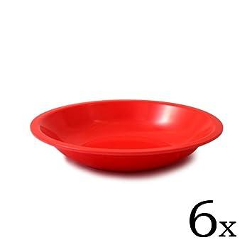 cartaffini - 6 platos hondos ligeros de melamina, diámetro 20,7 cm ...
