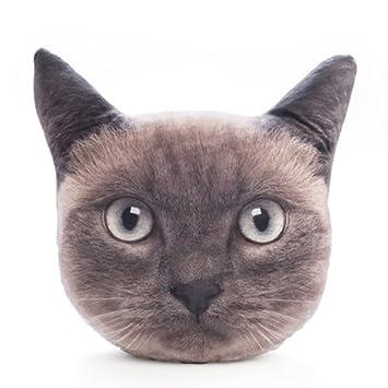 Amazon Com Decorative Plush Cushion Russian Blue Cat Toys Games