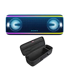 Get the ultimate three-dimensional music festival experience wherever you go with the XB41 wireless speaker. Give your favorite songs Extra Bassand enhance the party with Live Sound, Party Booster, and flashing lights that match the b...