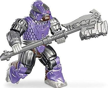 Halo Mega Bloks Covenant Purple Brute with Detailed Carbine Figure