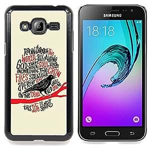 - Raven Crow Black Bird Poem Poe Edgar/ Duro Snap en el tel????fono celular de la cubierta - Cao - For Samsung Galaxy J3