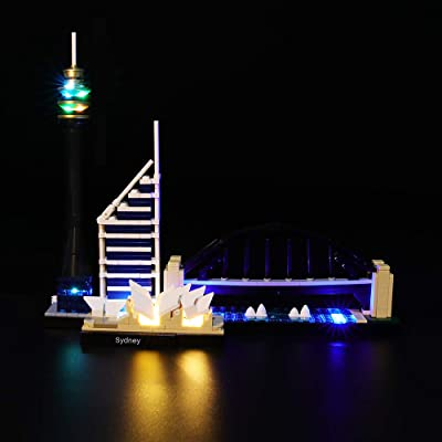 BRIKSMAX Led Lighting Kit for Architecture Sydney Skyline -Compatible with Lego 21032 Building Blocks Model- Not Include The Lego Set: Toys & Games