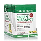 Cheap Vibrant Health – Green Vibrance, Plant-Based Superfood to Support Immunity, Digestion, and Energy with Over 70 Ingredients, 25 Billion Probiotics, Gluten Free, Non-GMO, Vegetarian, 15 Packets