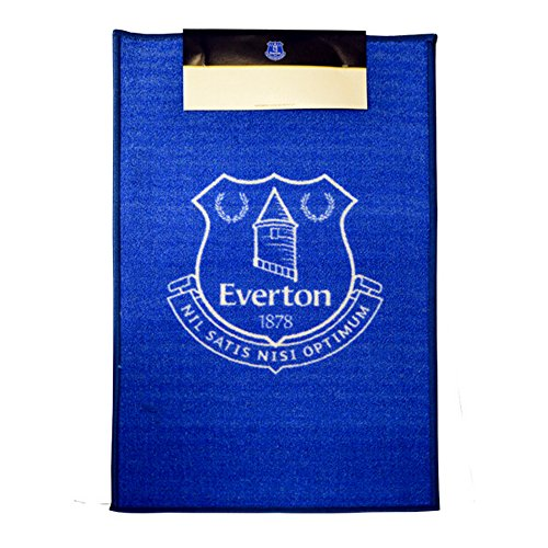 Everton FC Official Printed Soccer Crest Rug (One Size) (Blue)