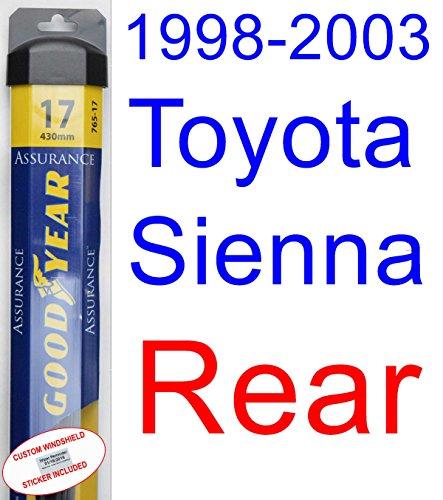 1998-2003 Toyota Sienna Wiper Blade (Rear) (Goodyear Wiper Blades-Assurance) (1999,2000,2001,2002) hot sale