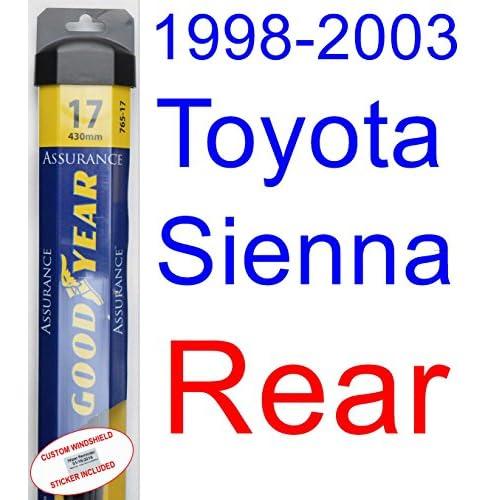Cheap 1998-2003 Toyota Sienna Wiper Blade (Rear) (Goodyear Wiper Blades-Assurance) (1999,2000,2001,2002) for sale