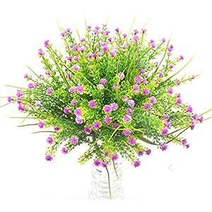 Bird Fiy Babys Breath Artificial Flowers,4 Bundles Gypsophila Flower Wedding Home Decor Gift (Red) 1