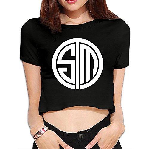 greenday-womens-team-solo-mid-tsm-team-sexy-bare-midriff-fashion-shirt