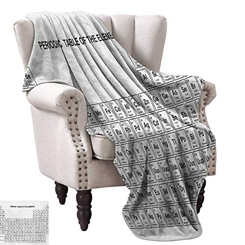 Anyangeight Weave Pattern Extra Long Blanket,Element Table for Chemisty Science Students Scientists Classic Plain Image 60