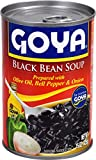 Goya Foods Black Bean Soup, 15-Ounce (Pack of 24)