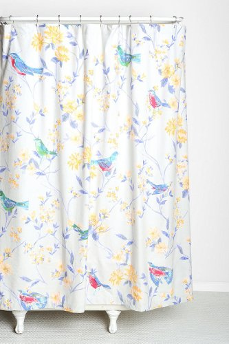 Urban Outfitters Sparrow Bird On Branches Fabric Shower Curtain By Plum   Bow
