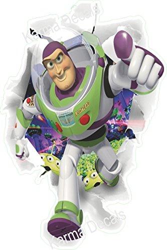 - Toy story buzz lightyear bursting through wall Movie 3D Wall Decal Sticker 18