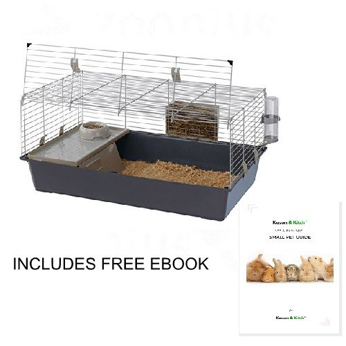Ferplast Guinea Pig and Rabbit Cage Den Habitat House Front Opening Hayrack Bowl Drinking Bootle and House.
