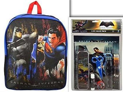 3a85dcecddea Image Unavailable. Image not available for. Color  Batman v Superman School  Bundle - 15 quot  Large Backpack ...