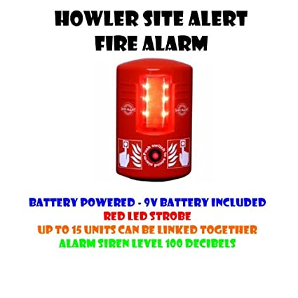 hs-tc140-new Howler sitio Alerta Alarma de incendio: Amazon ...