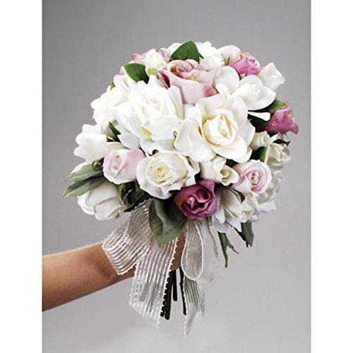 Silk Bouquet Flower Arranger 9 Inches ()