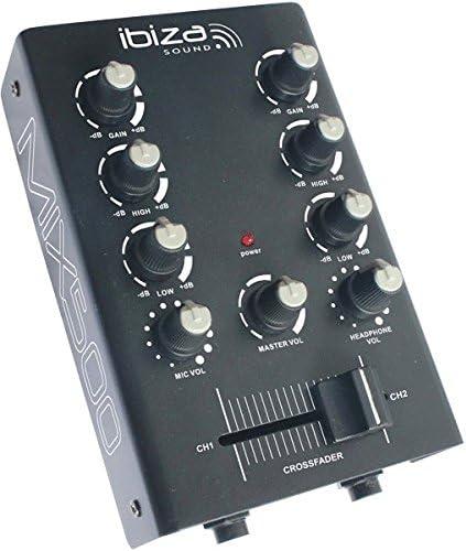 Ibiza MIX500 - Mesa de mezclas de 2 canales: Amazon.es: Instrumentos musicales