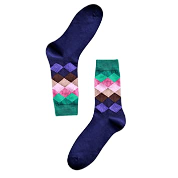 calcetines termicos hombre Sannysis Calcetines de ventilación, Calcetines de algodón para hombres invierno deportes Cálidos calcetines casuales de diamantes ...