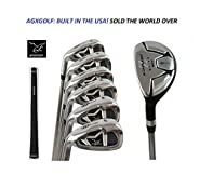 AGXGOLF Ladies Magnum NXT Left or Right Ladies Flex Irons Set w/ Hybrid Utility Long Iron +5,6,7,8 & 9 + PW: Petite Regular; Fast Shipping! Built in USA!