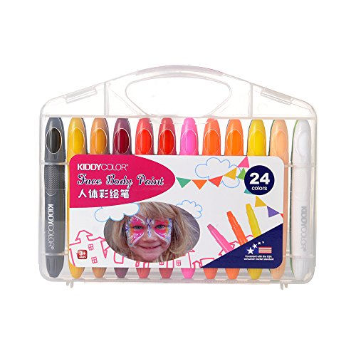 Face Paint Kit for Kids with 24 Colors CONDA Professional Body Crayons Makeup Marker