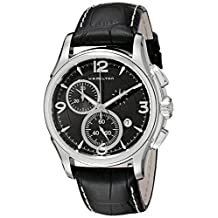 Hamilton Men's H32612735 Jazzmaster Black Chronograph Dial Watch