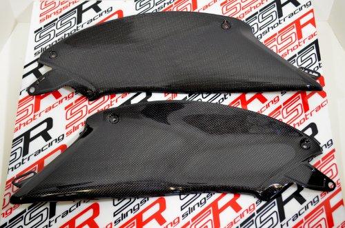 Lower Fairing Panel - (2010-2017) Ducati Diavel Carbon Fiber Fibre Under Tank Lower Side Fairing Panel Cover Set
