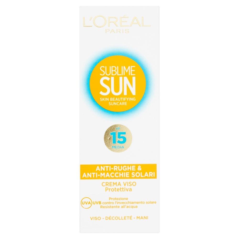 L'Oréal Paris Sublime Sun Crema Viso Protettiva Anti Rughe Anti Macchie Solari IP15 3600520359526