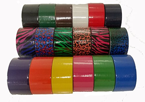 18-Roll-Variety-Pack-of-Bazic-Print-and-Solid-Colors-brights-and-regular-colors-of-All-Purpose-Duct-Tape