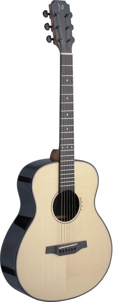 James Neligan LYN-A Abeto Sólido MINI guitarra acústica Viajes/Rosewood mit Tasche natur