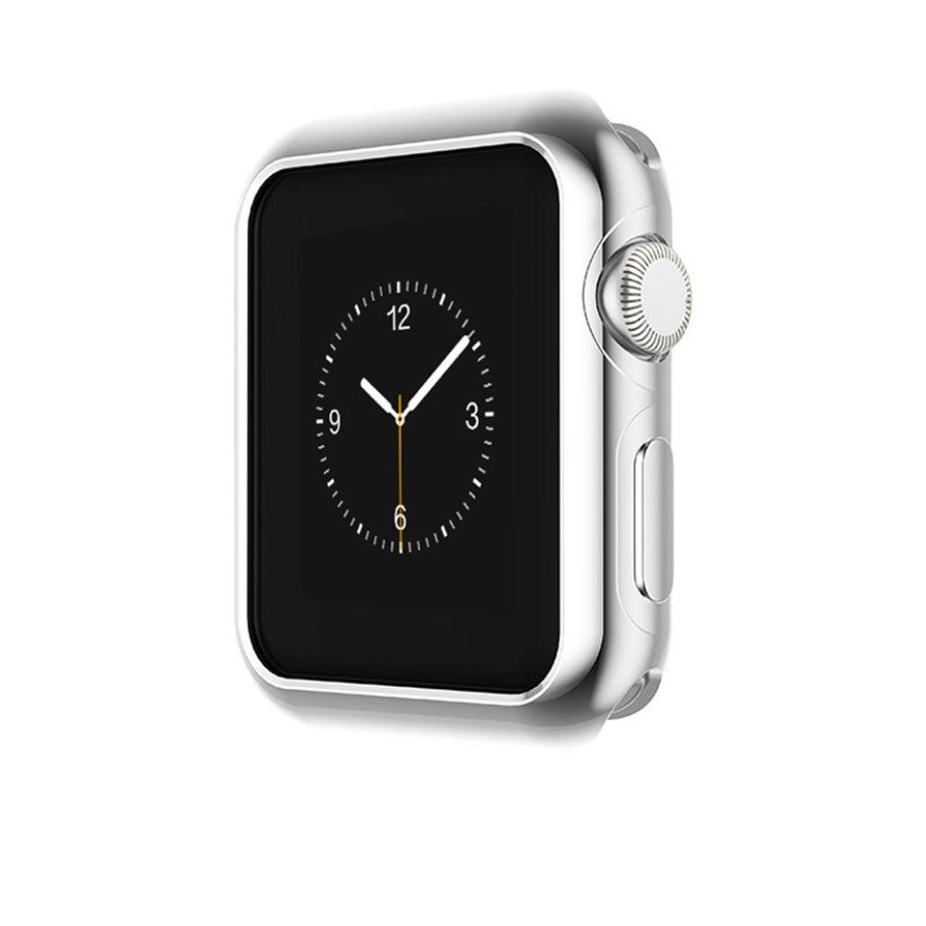 Owill Ultra-Slim Electroplate PC Case Cover For Apple Watch Series 3 42mm (Silver)