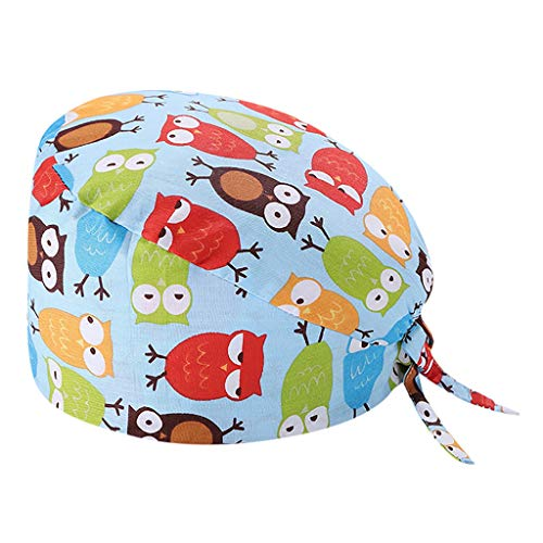 Surgical Cap Scrub Cap Sweatband Medical Bouffant Cap Turban Cap Adjustable Scrub Hat Head Cover for Men Women Doctor Nurse