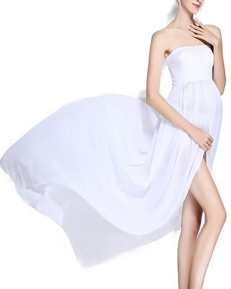 Vincendarr Women Strap Maternity Dresses For Photography White Dress