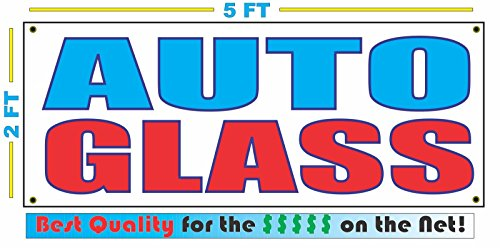AUTO GLASS All Weather Full Color Banner - Auto Banner Glass