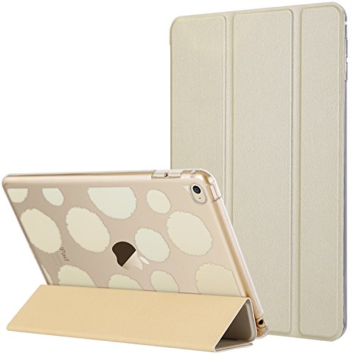 ULAK iPad Mini 4 Case, Mini 4 Case, Lightweight Slim Smart-Shell Stand Cover with Auto Wake/Sleep Function for Apple iPad Mini 4 7.9 inch 2015 Release Tablet, Champagne Gold