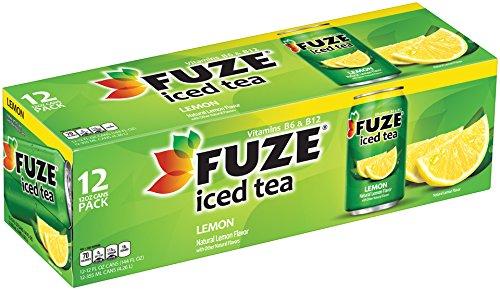 FUZE Lemon Iced Tea Fridge Pack Cans, 12 Ounce (Pack of 12)