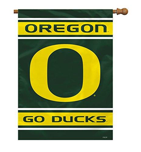 """NCAA Oregon Ducks 2-Sided House Flag, 28"""" x 40"""", Team Color"""