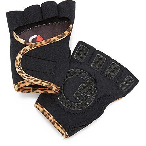 (グローブス) G-Loves レディース 手袋?グローブ Black with Leopard Workout Gloves [並行輸入品]