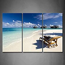 First Wall Art - Desk Chair On The Quiet Beach Wall Art Painting The Picture Print On Canvas Seascape Pictures For Home Decor Decoration Gift