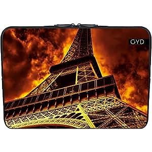 """Funda de neopreno portátil 13.3"""" pulgadas - Torre Eiffel En El Fuego by Gatterwe"""