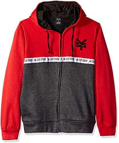 Zoo York Men's Logo Hoody Sweatshirt, Tango red, Large