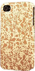 Antique Light Brown Damask Pattern Dimensional Case Fits Apple iPhone 5 or iPhone 5s