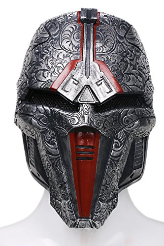 XCOSER Sith Acolyte Mask Helmet Costume Props for Adult Halloween Cosplay Updated (Halloween Costume 1012)