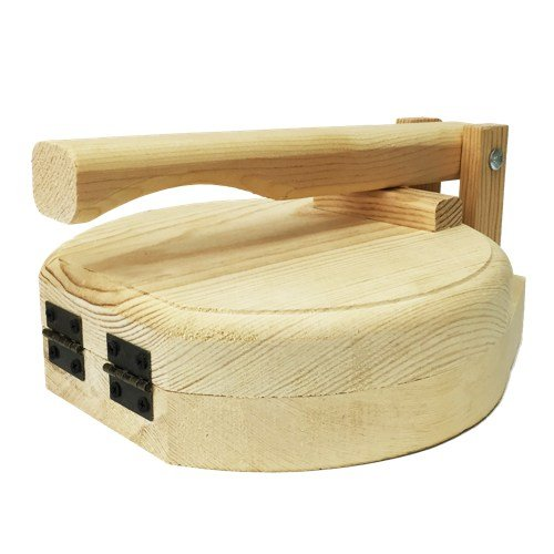 Round Wood Tortilla Press Tortilladora de Madera Redonda / Burrito Size - 11'' x 13''